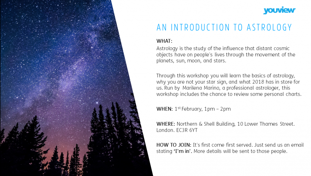 Astrology event with SparkAstrology.com