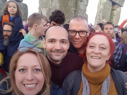 AA Stonehenge trip group photo